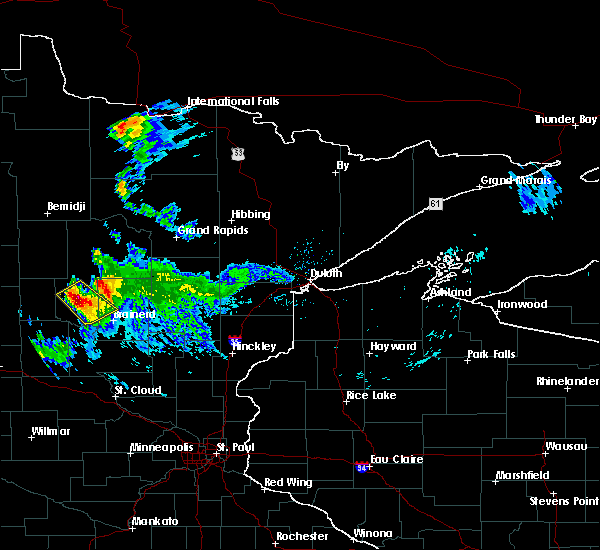 Radar Image for Severe Thunderstorms near Pequot Lakes, MN at 8/12/2015 8:03 PM CDT