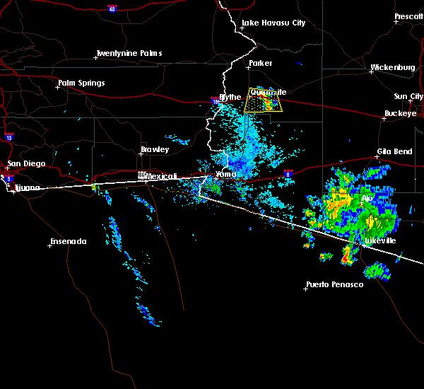 Radar Image for Severe Thunderstorms near Quartzsite, AZ at 8/12/2015 7:07 PM MST