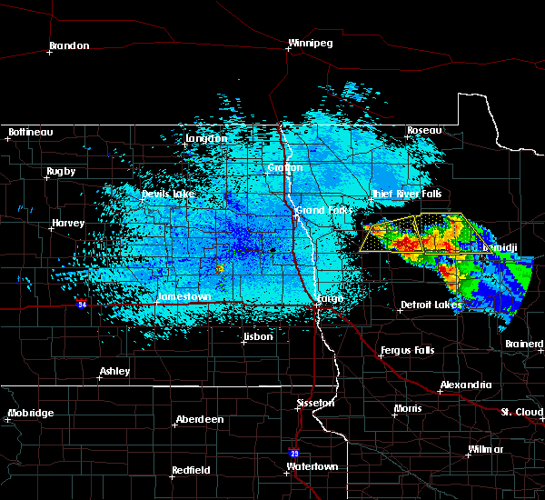 Radar Image for Severe Thunderstorms near Bemidji, MN at 8/12/2015 10:45 PM CDT