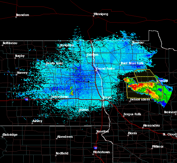 Radar Image for Severe Thunderstorms near Bemidji, MN at 8/12/2015 11:14 PM CDT