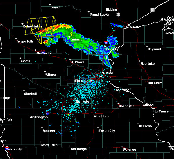 Radar Image for Severe Thunderstorms near Staples, MN at 8/13/2015 12:45 AM CDT