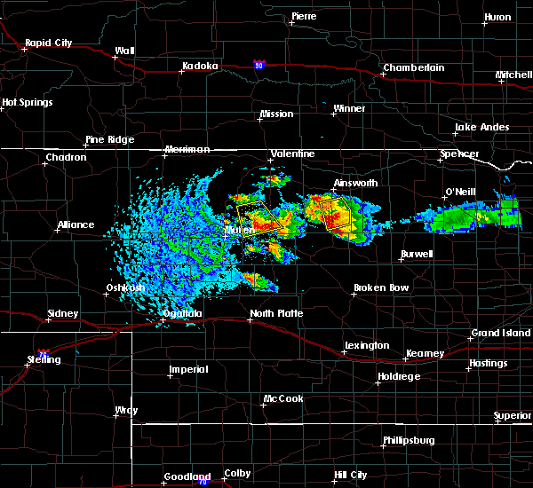 Radar Image for Severe Thunderstorms near Brownlee, NE at 8/13/2015 6:11 PM CDT