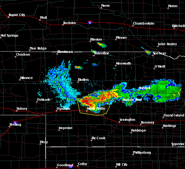 Radar Image for Severe Thunderstorms near Arnold, NE at 8/13/2015 8:01 PM CDT