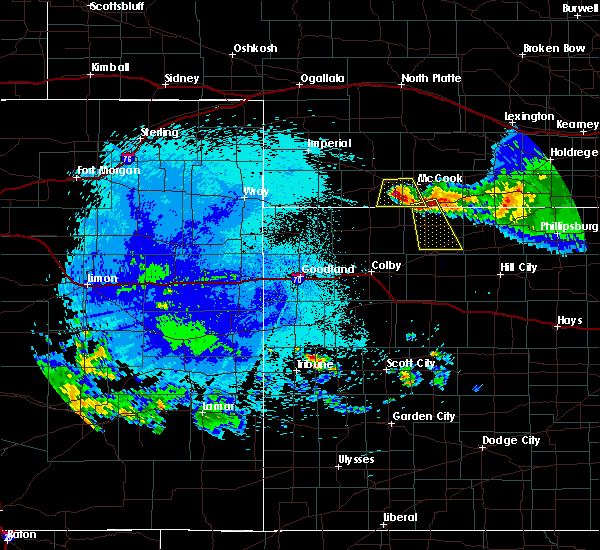 Radar Image for Severe Thunderstorms near Oberlin, KS at 8/13/2015 11:27 PM CDT