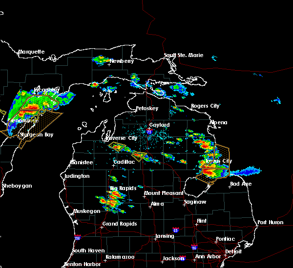 Radar Image for Severe Thunderstorms near South Boardman, MI at 8/14/2015 3:12 PM EDT