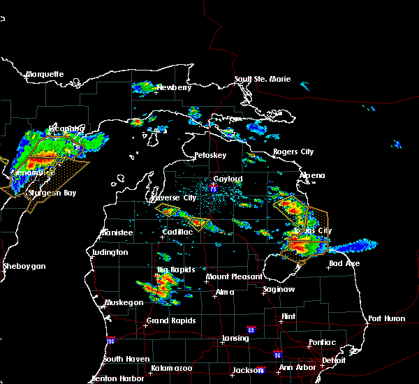 Radar Image for Severe Thunderstorms near Au Sable, MI at 8/14/2015 3:16 PM EDT