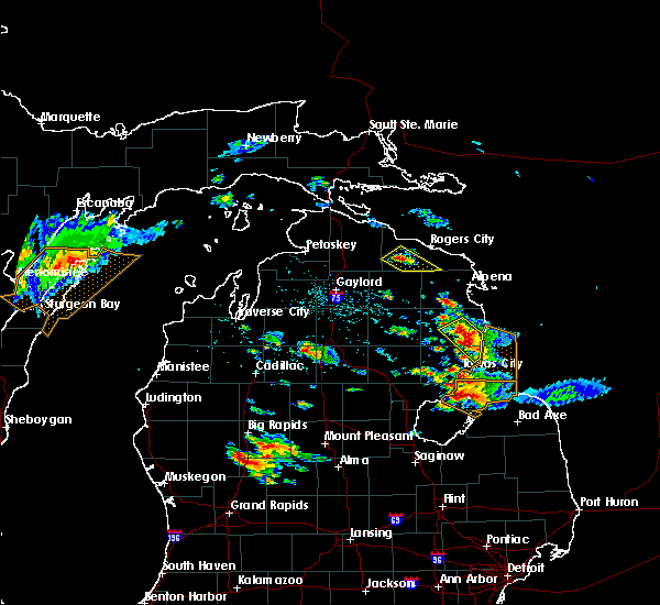 Radar Image for Severe Thunderstorms near Au Sable, MI at 8/14/2015 3:34 PM EDT