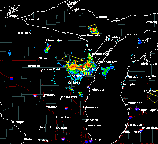 Radar Image for Severe Thunderstorms near Howard, WI at 8/14/2015 4:29 PM CDT