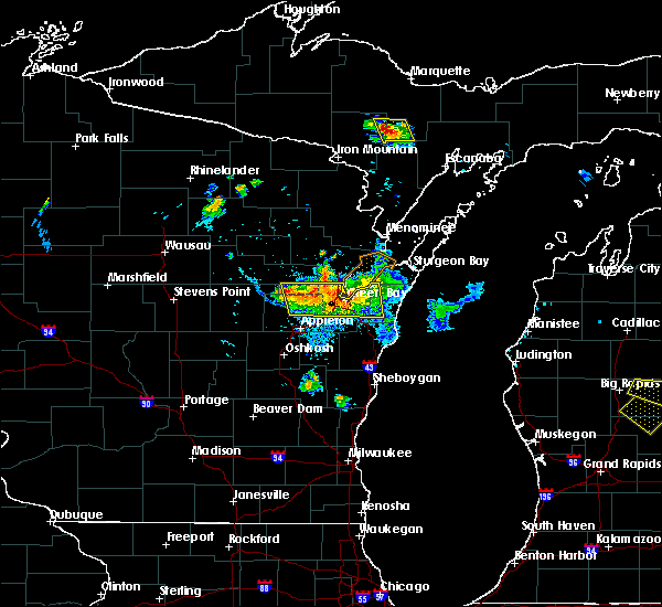 Radar Image for Severe Thunderstorms near Howard, WI at 8/14/2015 4:42 PM CDT
