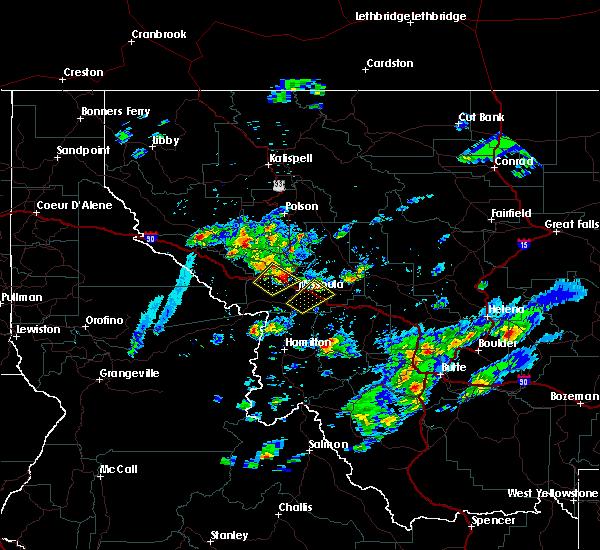 Radar Image for Severe Thunderstorms near Piltzville, MT at 8/14/2015 4:14 PM MDT