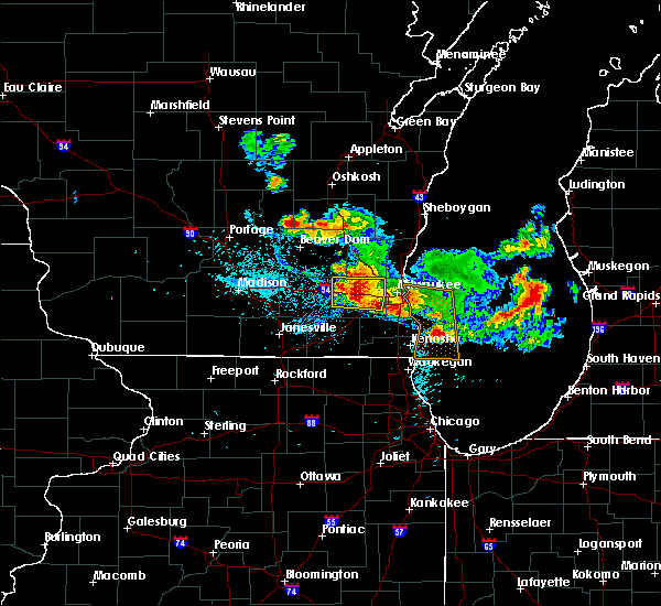 Radar Image for Severe Thunderstorms near Wales, WI at 8/14/2015 7:34 PM CDT