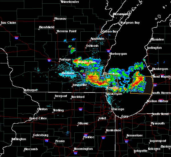 Radar Image for Severe Thunderstorms near Wales, WI at 8/14/2015 7:51 PM CDT