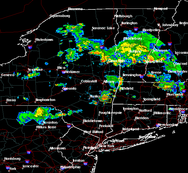 Radar Image for Severe Thunderstorms near Hudson, NY at 8/15/2015 6:07 PM EDT
