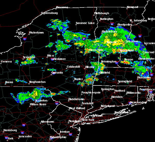 Radar Image for Severe Thunderstorms near Hudson, NY at 8/15/2015 6:25 PM EDT