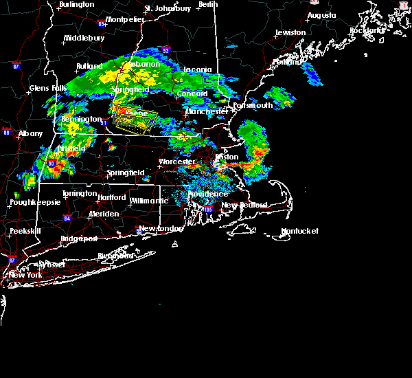Radar Image for Severe Thunderstorms near Medfield, MA at 8/15/2015 7:05 PM EDT
