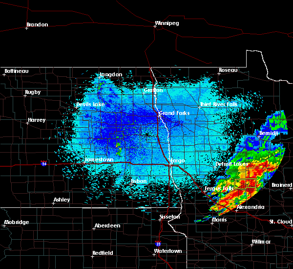 Radar Image for Severe Thunderstorms near Aldrich, MN at 8/16/2015 12:36 AM CDT