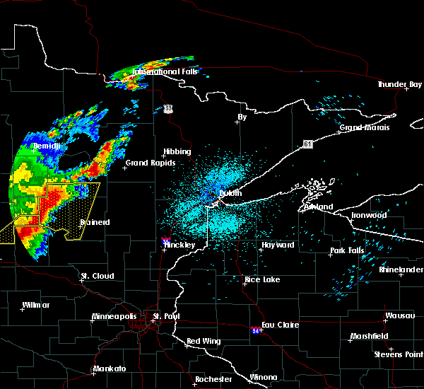 Radar Image for Severe Thunderstorms near Pequot Lakes, MN at 8/16/2015 12:54 AM CDT