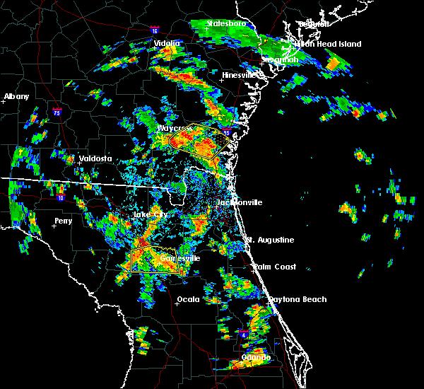 Radar Image for Severe Thunderstorms near Nahunta, GA at 8/17/2015 3:53 PM EDT
