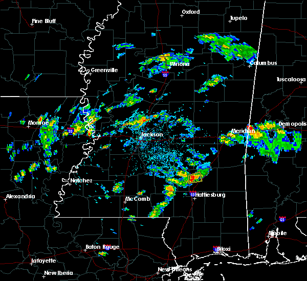 Radar Image for Severe Thunderstorms near Ellisville, MS at 8/17/2015 5:38 PM CDT