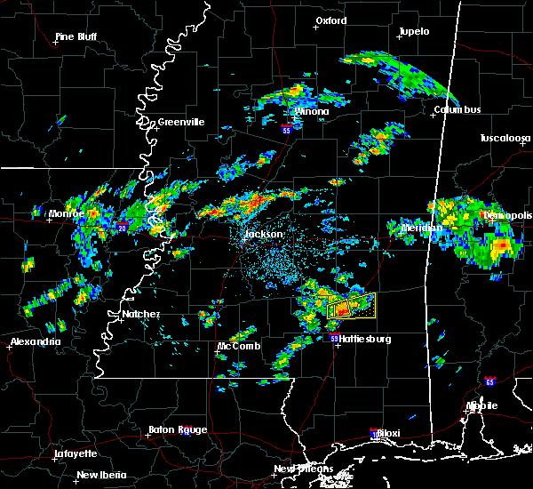 Radar Image for Severe Thunderstorms near Ellisville, MS at 8/17/2015 6:03 PM CDT