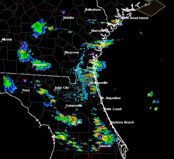 Radar Image for Severe Thunderstorms near Jacksonville, FL at 8/18/2015 5:39 PM EDT