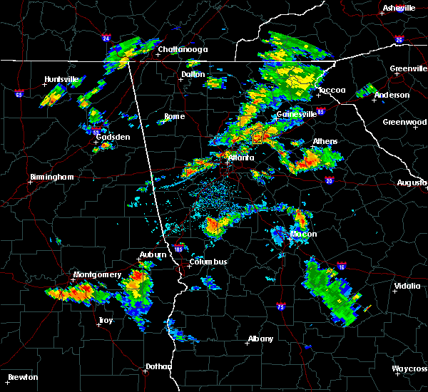 Radar Image for Severe Thunderstorms near Winder, GA at 8/18/2015 5:48 PM EDT