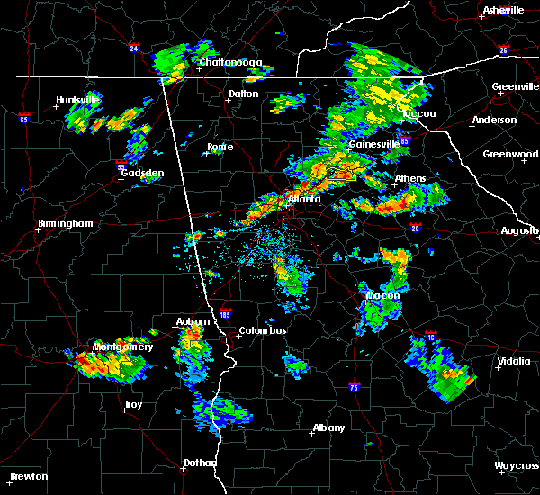 Radar Image For Severe Thunderstorms Near Winder GA At 8 18 2015 6