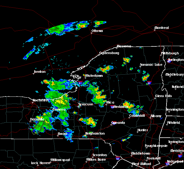 Radar Image for Severe Thunderstorms near Heuvelton, NY at 8/18/2015 6:36 PM EDT