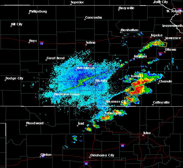 Radar Image for Severe Thunderstorms near Sedan, KS at 8/18/2015 5:53 PM CDT