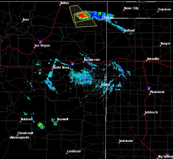 Radar Image for Severe Thunderstorms near Grenville, NM at 8/18/2015 5:45 PM MDT