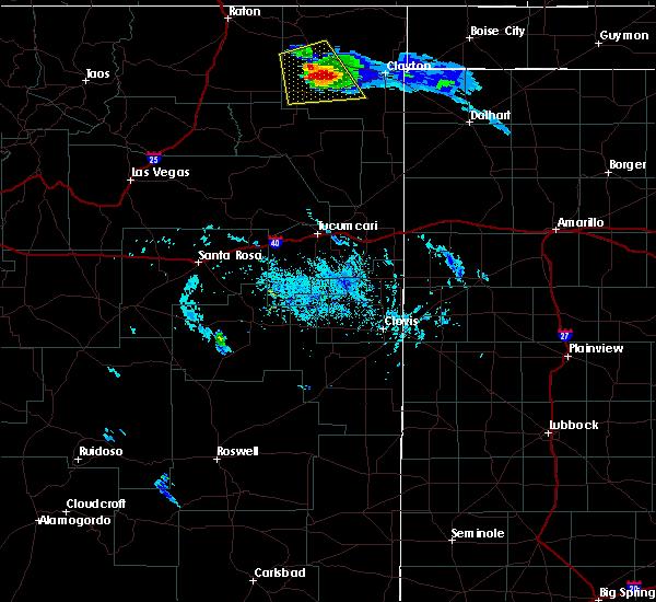 Radar Image for Severe Thunderstorms near Grenville, NM at 8/18/2015 6:13 PM MDT
