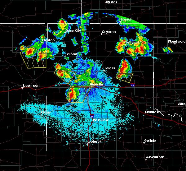 Radar Image for Severe Thunderstorms near Lefors, TX at 8/18/2015 11:17 PM CDT