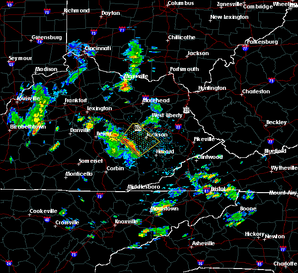 Radar Image for Severe Thunderstorms near Booneville, KY at 8/19/2015 12:49 PM EDT