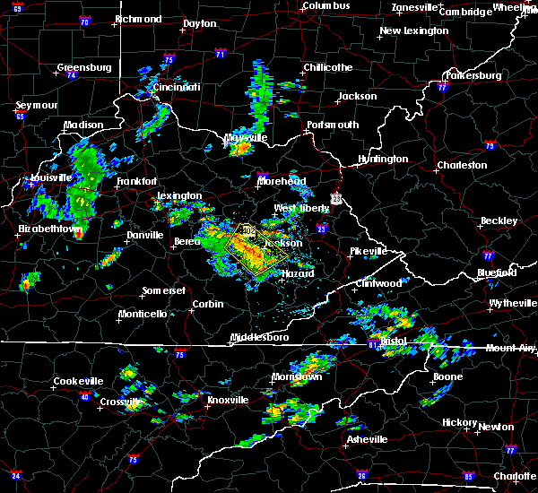 Radar Image for Severe Thunderstorms near Jackson, KY at 8/19/2015 1:13 PM EDT
