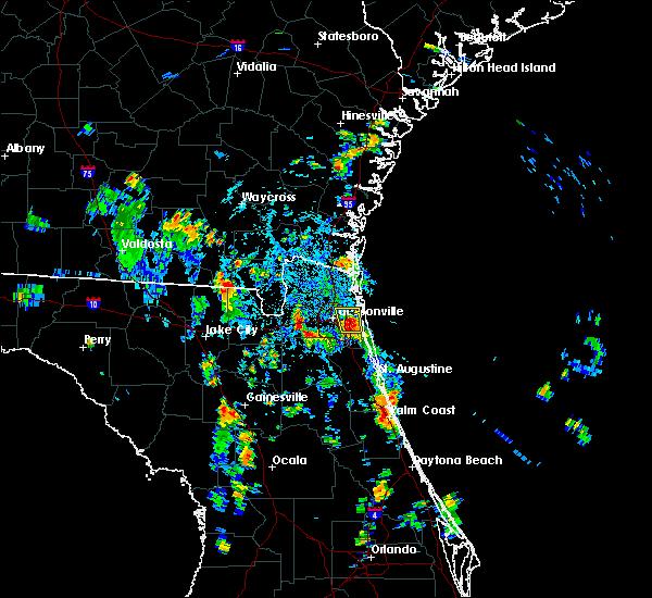 Radar Image for Severe Thunderstorms near Jacksonville, FL at 8/19/2015 4:18 PM EDT