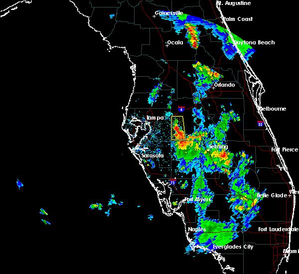Radar Image for Severe Thunderstorms near Lakeland, FL at 8/19/2015 6:45 PM EDT