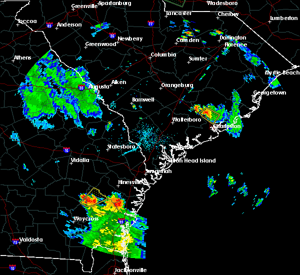 Radar Image for Severe Thunderstorms near Lincolnville, SC at 8/19/2015 7:22 PM EDT