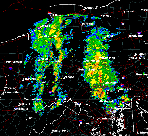 Radar Image for Severe Thunderstorms near Hershey, PA at 8/20/2015 1:36 PM EDT