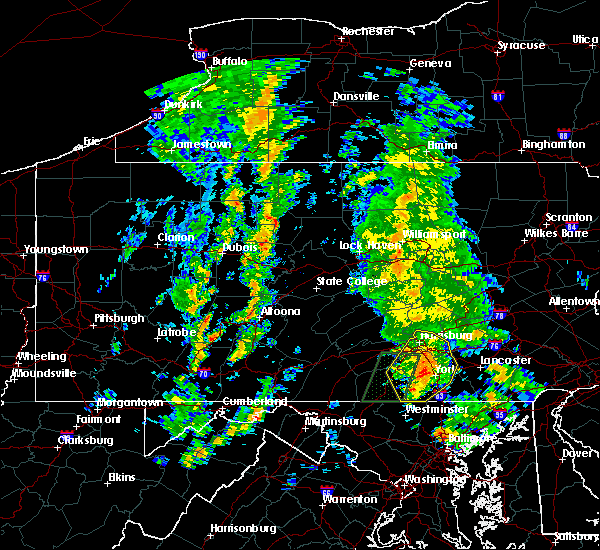 Radar Image for Severe Thunderstorms near Spry, PA at 8/20/2015 2:10 PM EDT