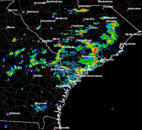 Radar Image for Severe Thunderstorms near Shell Point, SC at 8/20/2015 3:00 PM EDT