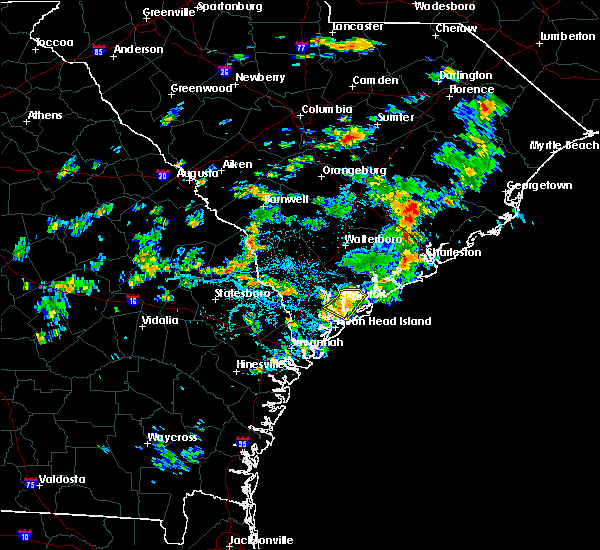 Radar Image for Severe Thunderstorms near Shell Point, SC at 8/20/2015 3:07 PM EDT