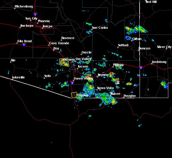Radar Image for Severe Thunderstorms near Marana, AZ at 8/20/2015 2:50 PM MST