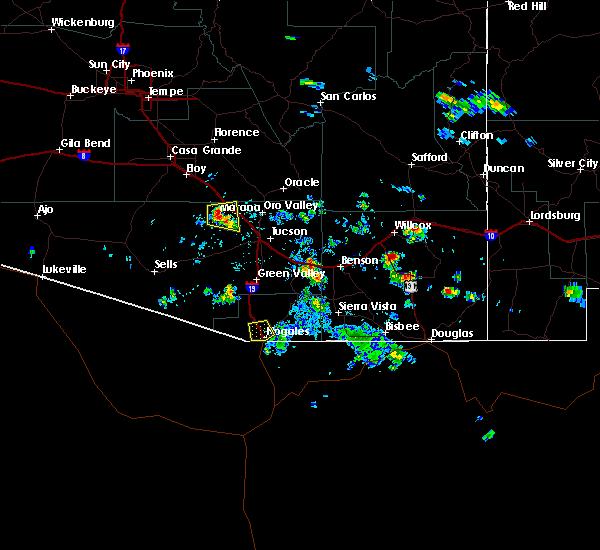 Radar Image for Severe Thunderstorms near Beyerville, AZ at 8/20/2015 2:53 PM MST