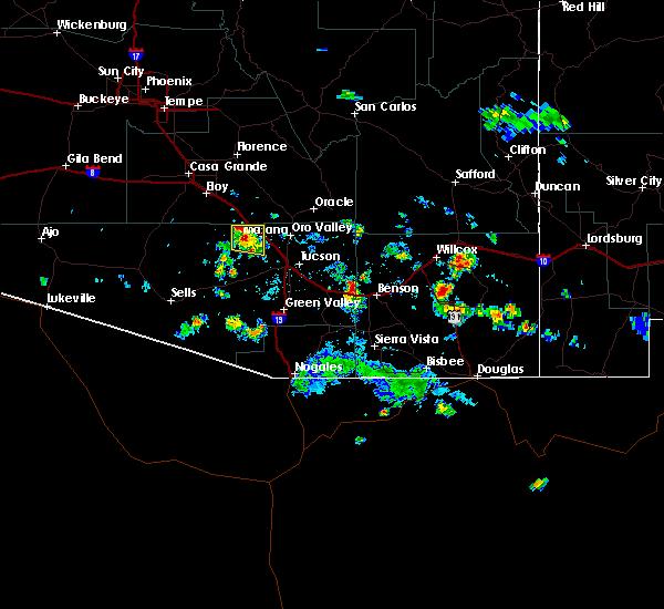 Radar Image for Severe Thunderstorms near Marana, AZ at 8/20/2015 3:17 PM MST
