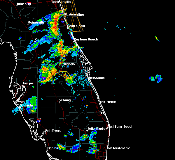 Radar Image for Severe Thunderstorms near Buenaventura Lakes, FL at 8/20/2015 6:37 PM EDT