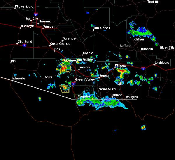 Radar Image for Severe Thunderstorms near Tucson Estates, AZ at 8/20/2015 3:48 PM MST