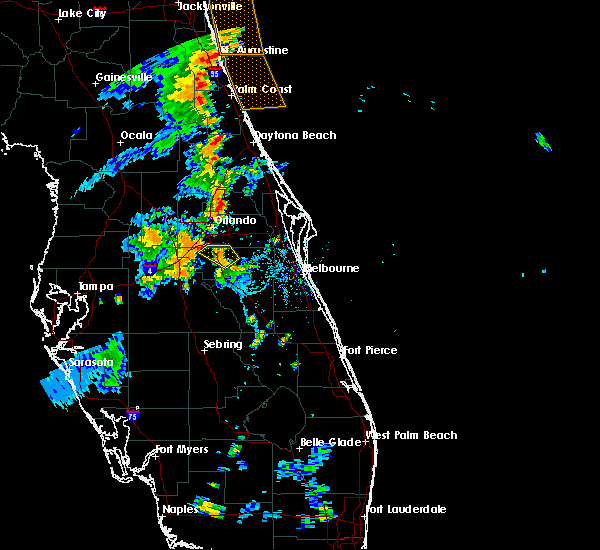 Radar Image for Severe Thunderstorms near Buenaventura Lakes, FL at 8/20/2015 6:54 PM EDT