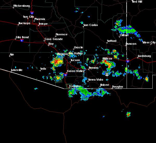 Radar Image for Severe Thunderstorms near Tucson Estates, AZ at 8/20/2015 4:04 PM MST