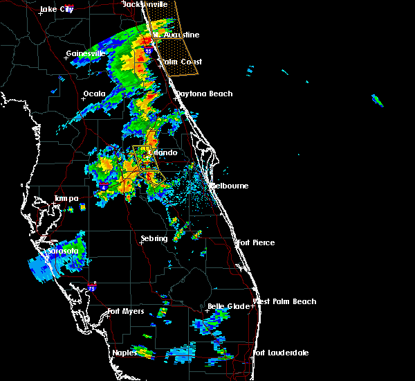 Radar Image for Severe Thunderstorms near Winter Park, FL at 8/20/2015 7:03 PM EDT