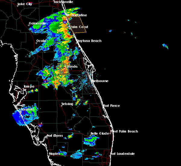 Radar Image for Severe Thunderstorms near Azalea Park, FL at 8/20/2015 7:19 PM EDT